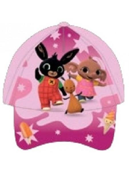 Dívčí kšiltovka Zajíček Bing, Flop a Sula - sv. růžová