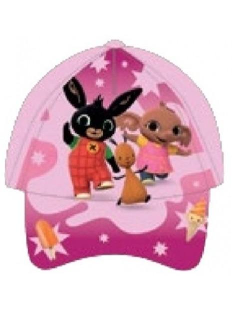 Dievčenské šiltovka Zajačik Bing, Flop a Sula - sv. ružová