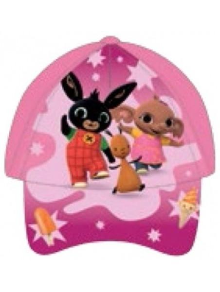 Dívčí kšiltovka Zajíček Bing, Flop a Sula - růžová