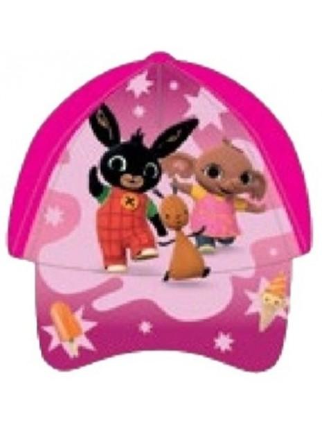 Dívčí kšiltovka Zajíček Bing, Flop a Sula - tm. růžová