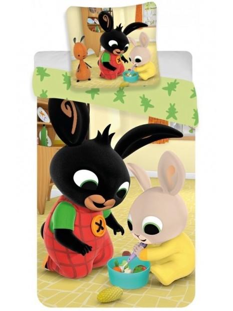 Bavlnené obliečky do detskej postieľky zajačik Bing a Charlie