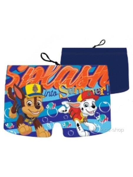 Chlapčenské plavky / boxerky Tlapková patrola PAW PATROL - tm. modré
