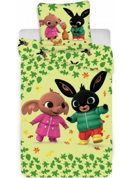Bavlnené obliečky do detskej postieľky zajačik Bing a Sula