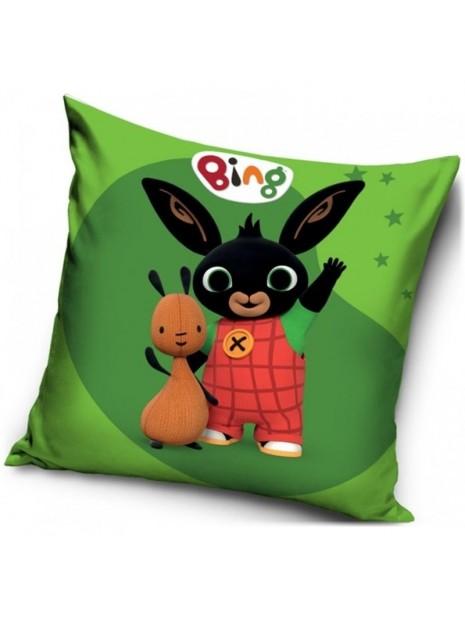 Povlak na vankúš zajačik Bing a Flop - zelený