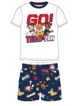 Letní chlapecké pyžamo Tlapková patrola GO! TEAM - bílé