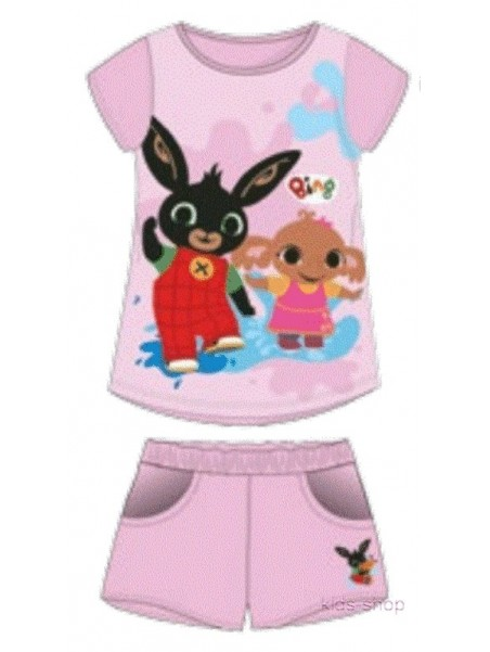 Dievčenské letné súprava zajačik Bing - sv. ružová
