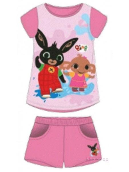 Dievčenská letná súprava zajačik Bing - ružová
