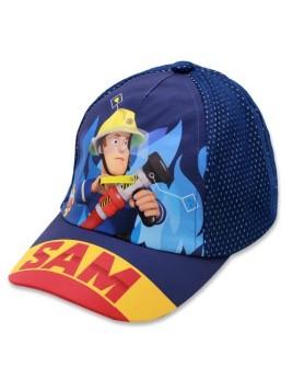 Chlapčenská šiltovka hasič Sam - tm. modrá