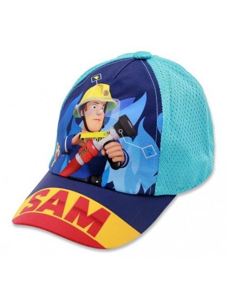 Chlapecká kšiltovka požárník Sam - tyrkysová
