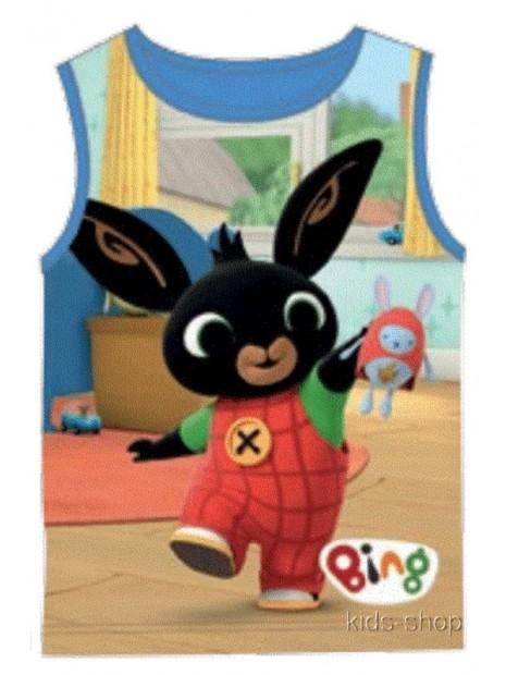 Chlapčenské tričko / nátelník zajačik Bing - sv. modré