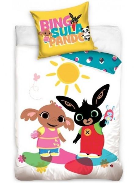 Bavlnené obliečky do detskej postieľky zajačik Bing a slonica Sula