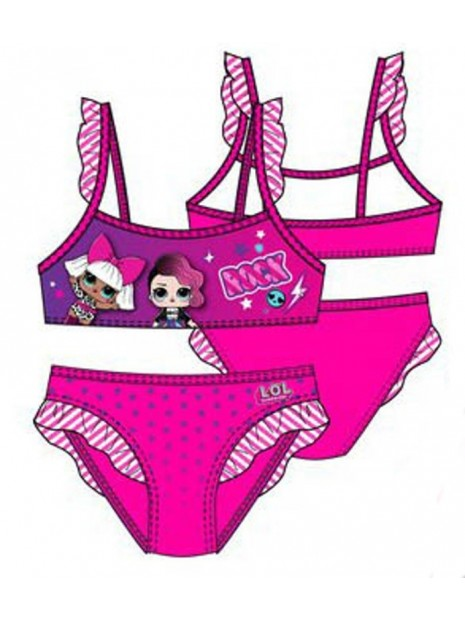 Dievčenské dvojdielne plavky L.O.L. Surprise - ružové