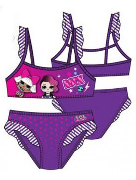 Dievčenské dvojdielne plavky L.O.L. Surprise - fialové