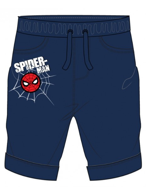Chlapčenské kraťasy Spiderman - tm. modré