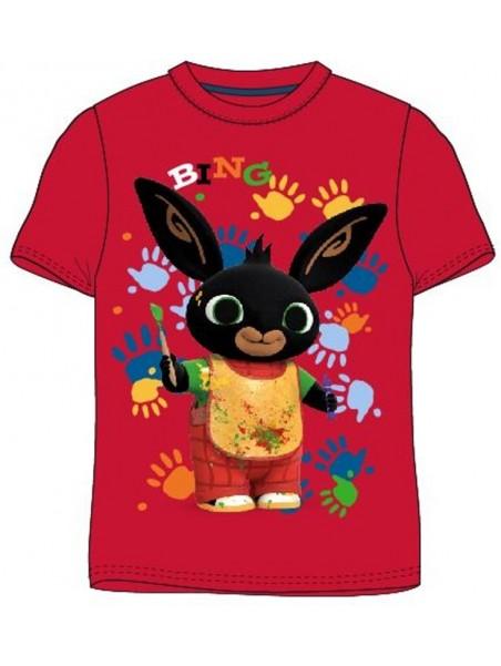 Dětské tričko s krátkým rukávem Zajíček Bing - červené