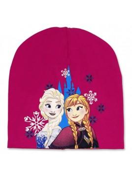 Dievčenská prechodová čiapka Ľadové kráľovstvo - Frozen - tm. ružová