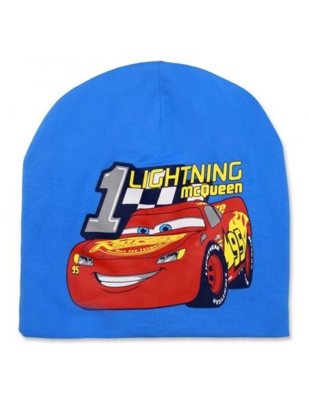Chlapčenská prechodová čiapka Autá McQueen 95 - sv. modrá