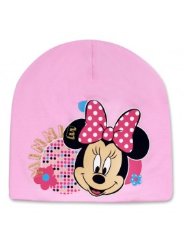 Dívčí přechodová čepice Minnie Mouse - sv. růžová