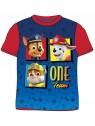 Chlapecké tričko s krátkým rukávem Tlapková patrola - ONE Team - červené