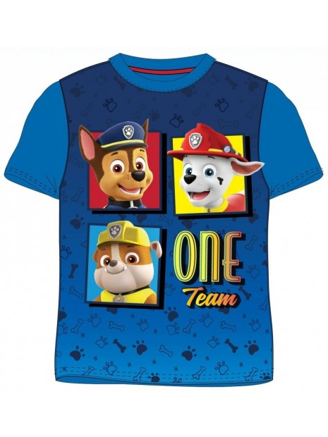 Chlapecké tričko s krátkým rukávem Tlapková patrola - ONE Team - modré