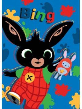 Detská hrejivá fleecová deka zajačik Bing - modrá