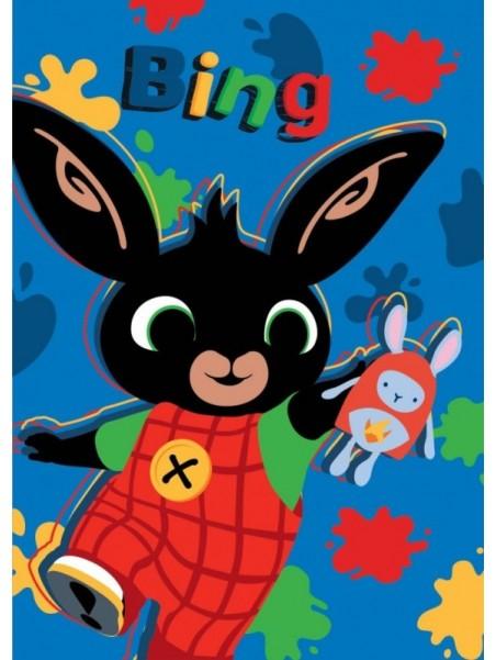 Dětská hřejivá fleecová deka zajíček Bing - modrá