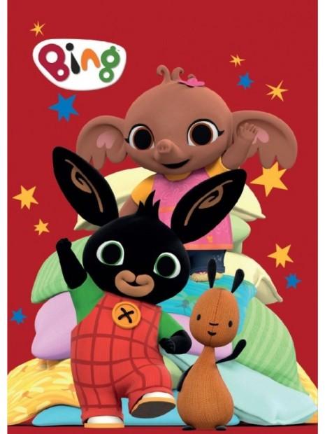 Dětská hřejivá fleecová deka zajíček Bing - červená