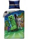 Kvalitné detské bavlnené posteľné obliečky s motívom legendárnej počítačovej hry Minecraft. Toto obliečky je vyrobené zo 100% hladkej bavlny príjemné na dotyk. Z druhej strany obliečky je odlišný vzor, ktorý je vidieť na fotke produktu. Rozmer pre klasickú veľkú posteľ 140x200 cm, s povlakom na vankúš 70x90 cm a praktickým zapínaním na zips.  Obliečky sú opatrené medzinárodným certifikátom kvality Oeko-Tex Standard 100, ktorý zaručuje stálosť farieb i rozmerov a tiež to, že výrobok neobsahuje škodlivé látky. Viac informáciíTU
