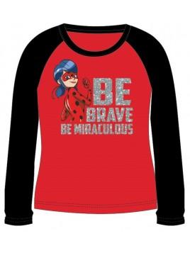Dívčí tričko s dlouhým rukávem Kouzelná beruška - červené