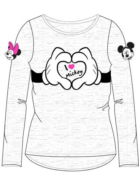 Dívčí tričko s dlouhým rukávem Minnie mouse - šedé
