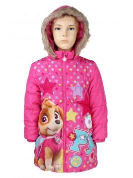 Prošívaný dívčí zimní kabát Tlapková patrola - Skye