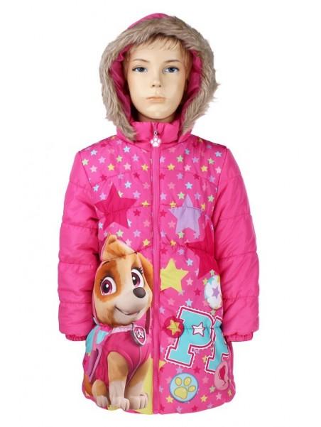 Prešívaný dievčenské zimné kabát Tlapková patrola - Skye