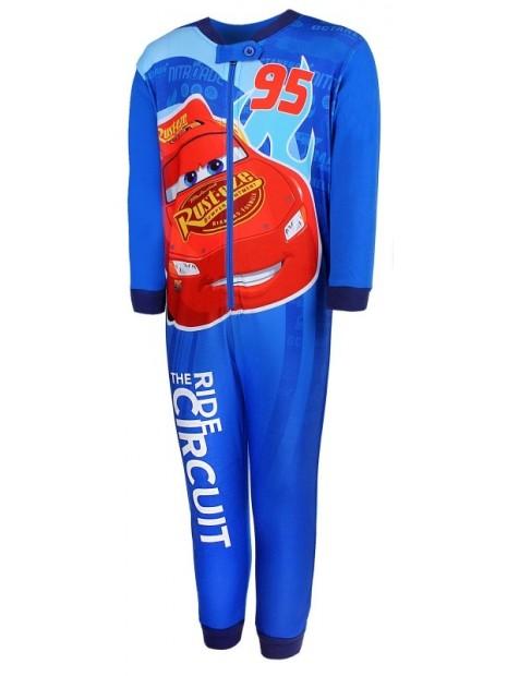 Chlapčenské pyžamo overal McQueen 95 Autá - modrý