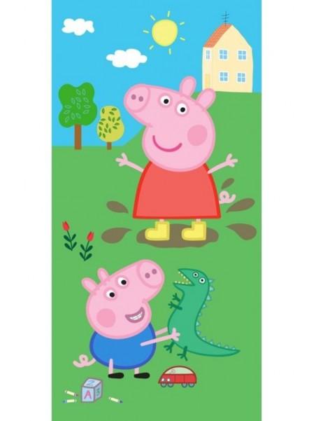 Dětská bavlněná osuška Prasátko Peppa a George