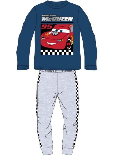 Chlapecké bavlněné pyžamo AUTA - CARS - BLESK MCQUEEN 95 - modré