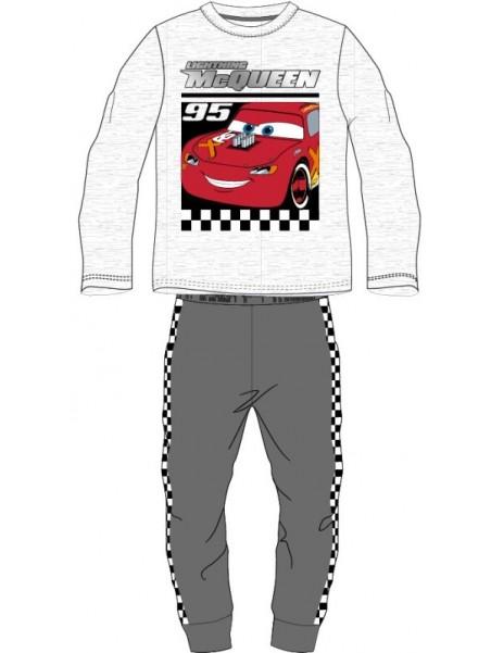 Chlapecké bavlněné pyžamo AUTA - CARS - BLESK MCQUEEN 95 - šedé