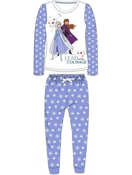 Dívčí pyžamo Ledové království (Frozen) vločka - fialové