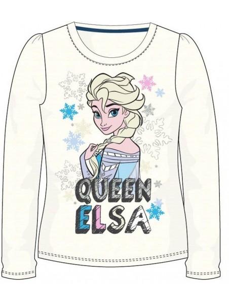 Dívčí tričko s dlouhým rukávem Ledové království (Frozen) - krémové