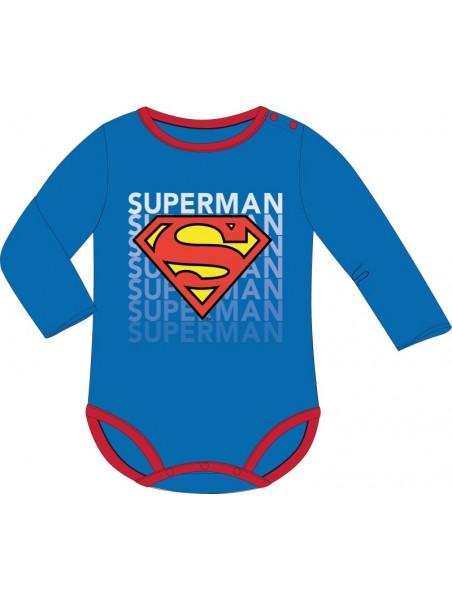 Dojčenské body s dlhým rukávom SUPERMAN
