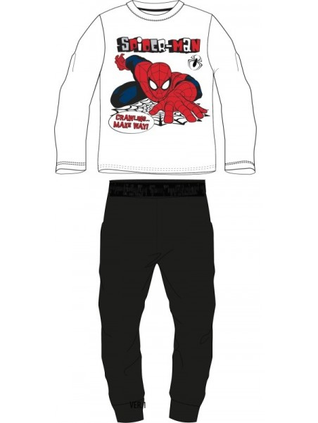 Chlapecké bavlněné pyžamo Spiderman MARVEL - černé