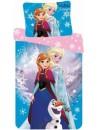 Krásné dívčí ložní povlečení Frozen, je vyrobeno z kvalitní 100% bavlny. Přední stranu povlaku zdobí obrázek Elsy , Anny a Olafa druhá strana je v růžovém provedení zdobená vločkami. Polštář zdobí obrázek Anna + Elsa. Ložní povlečení má praktické zapínání na zip. Rozměr 140 x 200 + 70 x 90 cm.