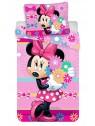 Dětské ložní bavlněné povlečení Minnie Mouse - květy