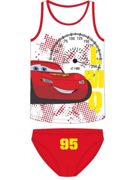 Chlapecké bavlněné spodní prádlo Blesk McQueen 95 - červené