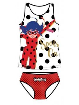 Dievčenská spodná bielizeň - košieľka a nohavičky Čarovná lienka - Ladybug