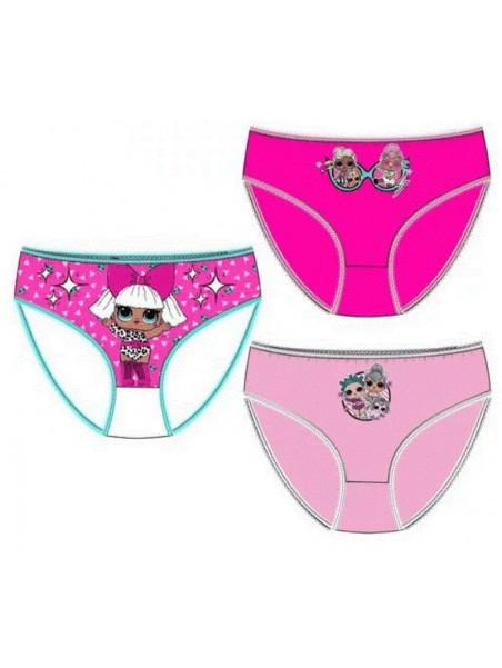 Dívčí bavlněné kalhotky L.O.L. Surprise - bal. 3ks