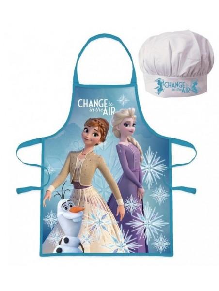 Dětská zástěra a kuchařská čepice Ledové Království - Frozen - modrá