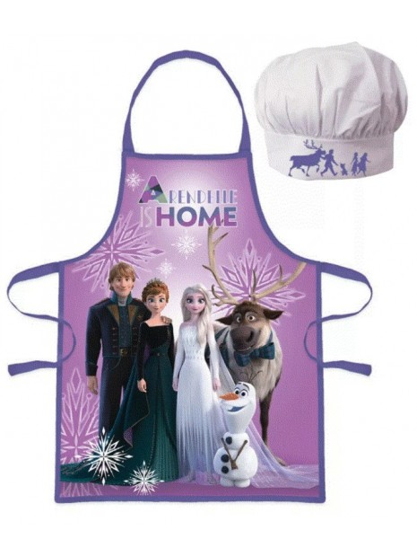 Dětská zástěra a kuchařská čepice Ledové Království - Frozen - fialová