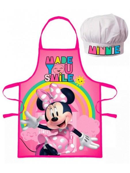 Dětská zástěra a kuchařská čepice Minnie Mouse (Disney) ❤ duha