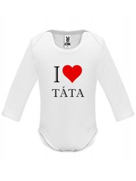 Bílé kojenecké body - I love táta