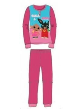 Dievčenské bavlnené pyžamo králiček Bing a Sula - tm. ružové